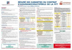 Résumé Assurance Licence FFT 2014