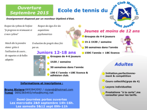 TCMSJ Ecole tennis