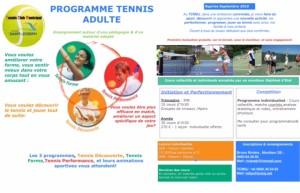 Programme de l'école de Tennis
