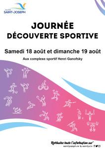 A4 affiche Journée découverte du sport